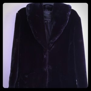 Black Faux Fur Mob Wife style Coat